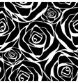black roses pattern vector image vector image