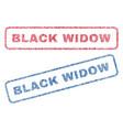 black widow textile stamps vector image vector image