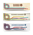 business horizontal banners collection vector image vector image