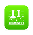 chemistry icon green vector image vector image