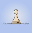 chess pawn flat icon vector image vector image