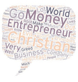 christian entrepreneur 1 text background wordcloud vector image vector image