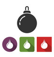 christmas tree decoration icon vector image
