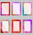 Colorful abstract digital art brochure frame set vector image vector image