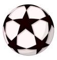 colorful cartoon soccer ball star vector image