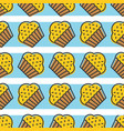 colorful cute cupcake seamless pattern for vector image