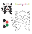 Coloring book raccoon kids layout for game vector image