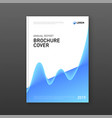 corporate brochure cover design template vector image vector image
