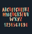 creative hand drawn latin font or childish english vector image