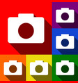 digital camera sign set of icons with vector image