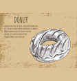 donut poster with dessert vector image vector image