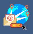 E-mail marketing newsletter concept Flat design vector image vector image
