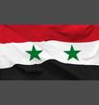 flag syrian arab republic vector image vector image