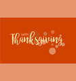 flat design style happy thanksgiving day logotype vector image vector image