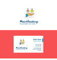 flat emoji in hands logo and visiting card vector image