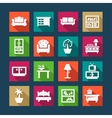 flat furniture icons vector image