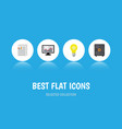 flat icon incoming set of strongbox bubl vector image