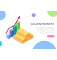 gold investment concept can use for web banner vector image