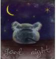 good night card vector image