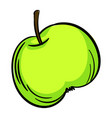 green apple icon cartoon style vector image vector image