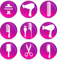 Hair Dressing Tools vector image vector image
