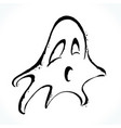 hand drawn ghost isolated on white background vector image