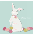 Happy Easter card with rabbit vector image vector image