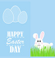 happy easter easter rabbit rabbit looks vector image