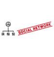 happy hierarchy mosaic and distress social network vector image vector image
