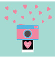 Happy Valentines Day Love card Camera Instant vector image