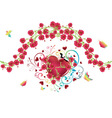 Heart with Roses4 vector image vector image