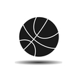 icon basketball ball with shadow vector image vector image