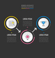 infographic design business concept with 3 vector image vector image