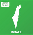 israel map icon business concept israel pictogram vector image