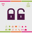 lock unlock - set icon vector image