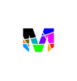 m letter colorful logo vector image