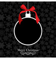 Merry Christmas bauble background vector image