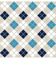 navy blue and light blue argyle harlequin seamless vector image vector image