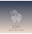 New year card with a sheep - symbol of 2015 vector image