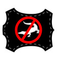 no crocodile leather vector image vector image