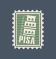 original postmark stamp with pisa tower vector image vector image