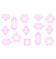 pink print crystals for t-shirt vector image
