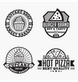 pizza logo badge vector image