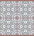portuguese or spanish tile azulejos design vector image vector image