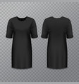 realistic black woman dress or long shirt vector image vector image