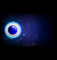 realistic circle button on abstract technology vector image