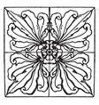 renaissance square panel is a big dark leaves vector image vector image