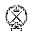 Royal emblem with crossed swords