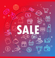 sale concept different thin line icons included vector image vector image