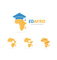 set of africa logo combination safari and study vector image